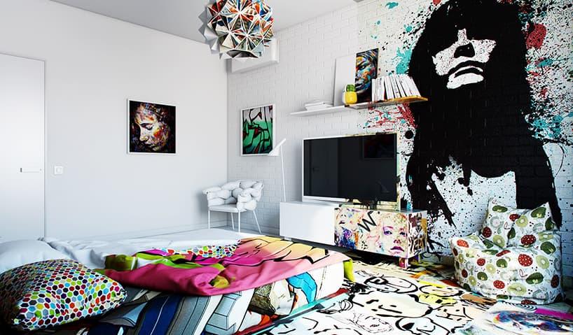 pavel-vetrov-sunday-yarisi-boyanmis-otel-odasi-daire-graffiti-sprey-4